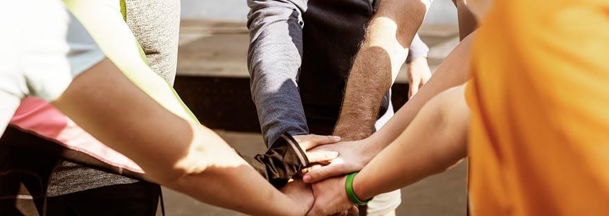 people meeting outdoors
